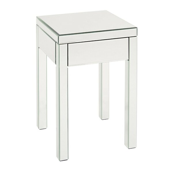 Luedtke Mirrored End Table by Rosdorf Park