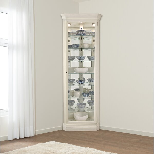 Carrizal Lighted Curio Cabinet by Alcott Hill Alcott Hill