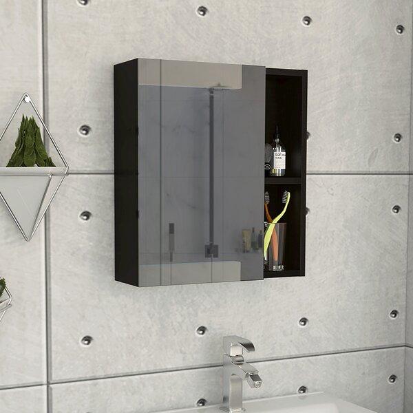Lykens Surface Mount Framed 1 Door Medicine Cabinet with 3 Shelves