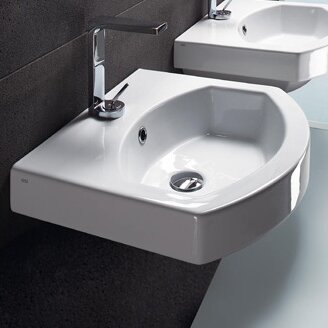 Ceramic U-Shaped Vessel Bathroom Sink with Overflow by GSI Collection