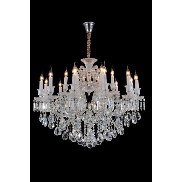 Chambord 19-Light Candle Style Empire Chandelier By Michael Amini