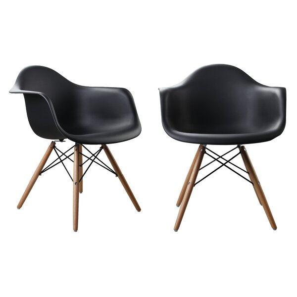 Modern Designer Plastic Dinning Side Chair (Set of 2) by Attraction Design Home