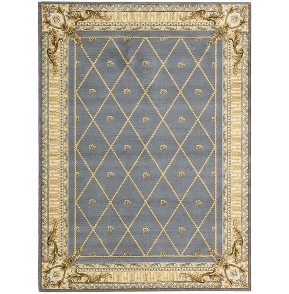 Payzley Wool Blue Area Rug by Astoria Grand