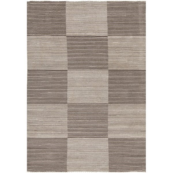 Roxanne Hand-Knotted Cream/Brown Area Rug by Corrigan Studio
