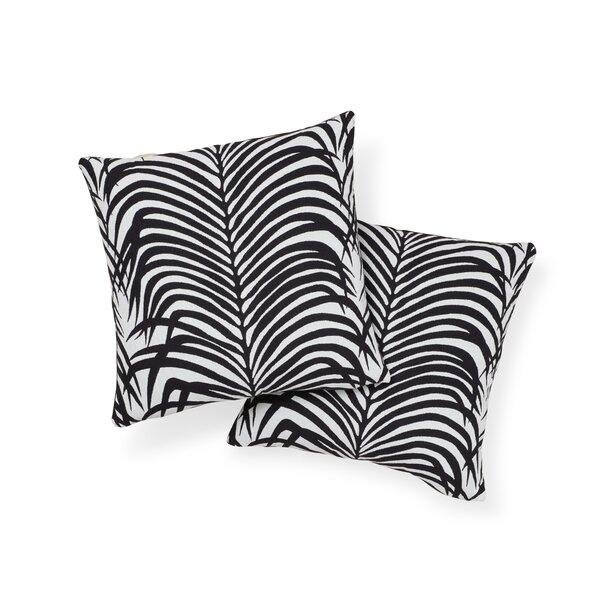 Zebra Palm Indoor/Outdoor Throw Pillow
