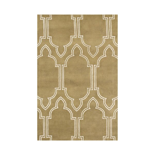 Hand-Tufted Mustard Gold Area Rug by The Conestoga Trading Co.