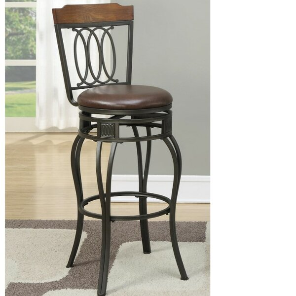 Whitmer Intriguing 24 Swivel Bar Stool (Set of 2) by Millwood Pines