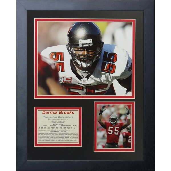 Derrick Brooks Framed Memorabilia by Legends Never Die