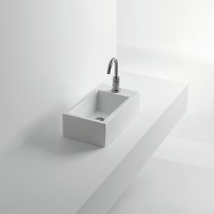 Look for Hox Ceramic Ceramic Rectangular Vessel Bathroom Sink By WS Bath Collections