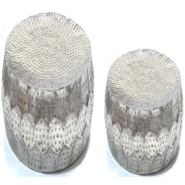 Barraza 2 Piece End Table Set by Bungalow Rose