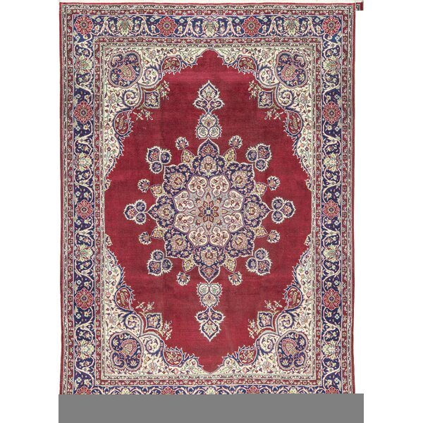 One-of-a-Kind Hand-Knotted Wool Red/Navy Area Rug by Bokara Rug Co., Inc.