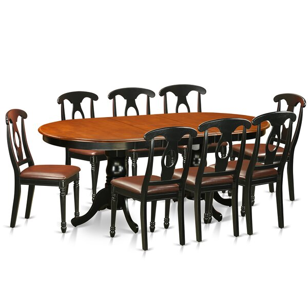 Pilcher Contemporary 9 Piece Wood Dining Set by August Grove