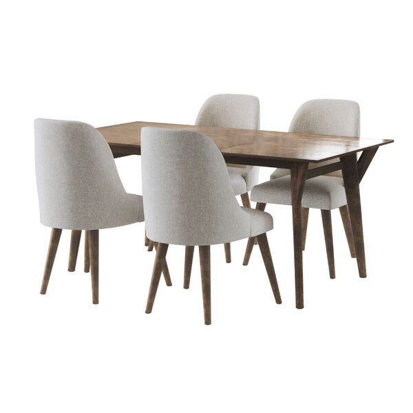 Ames Mid Century 5 Piece Dining Set by Union Rustic