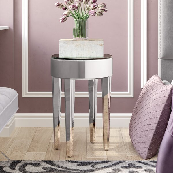Curry Mirrored End Table by Willa Arlo Interiors