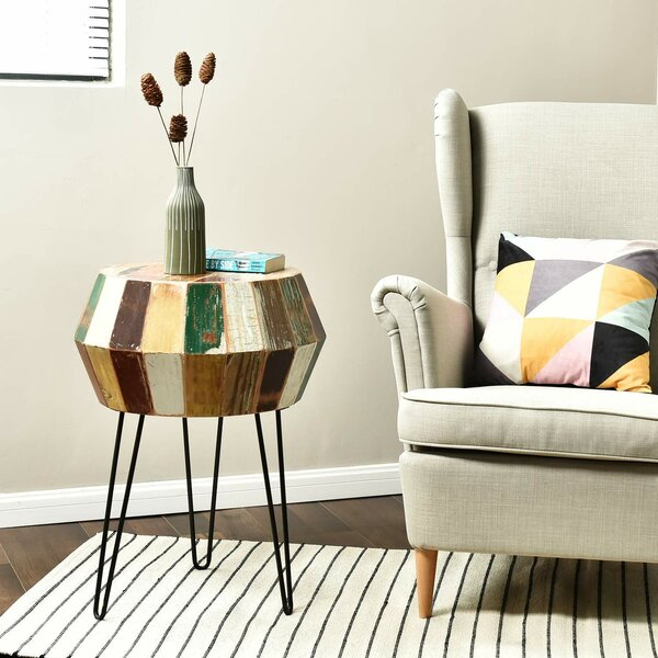 Seamans Reclaimed Wood End Table by World Menagerie