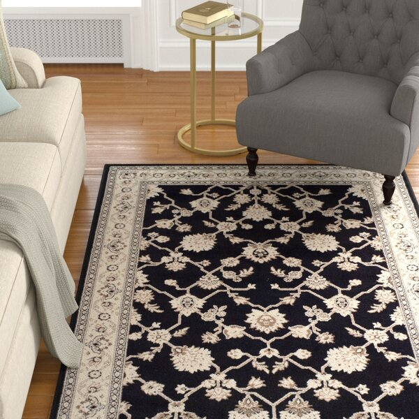 Cartensen Black/Beige Area Rug by Charlton Home