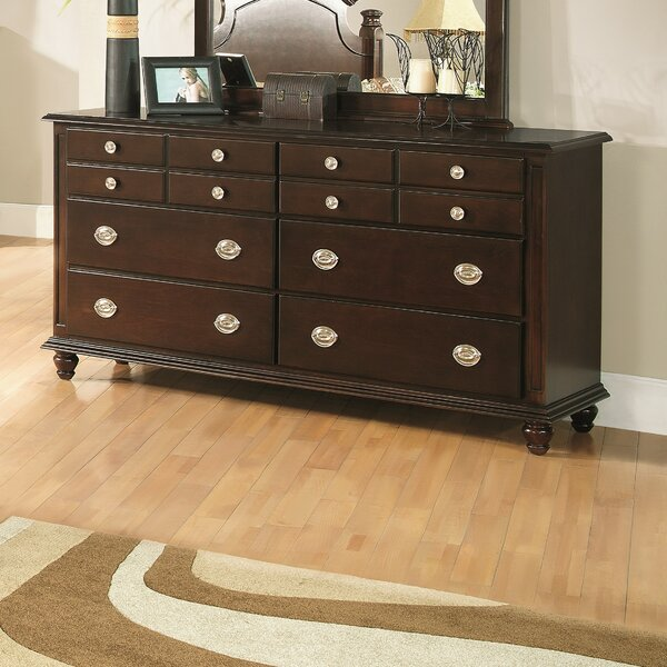 Daley 6 Drawer Double Dresser with Mirror by Darby Home Co