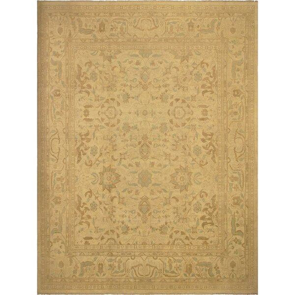 Xenos Hand-Knotted Rectangle Wool Ivory Area Rug by Astoria Grand