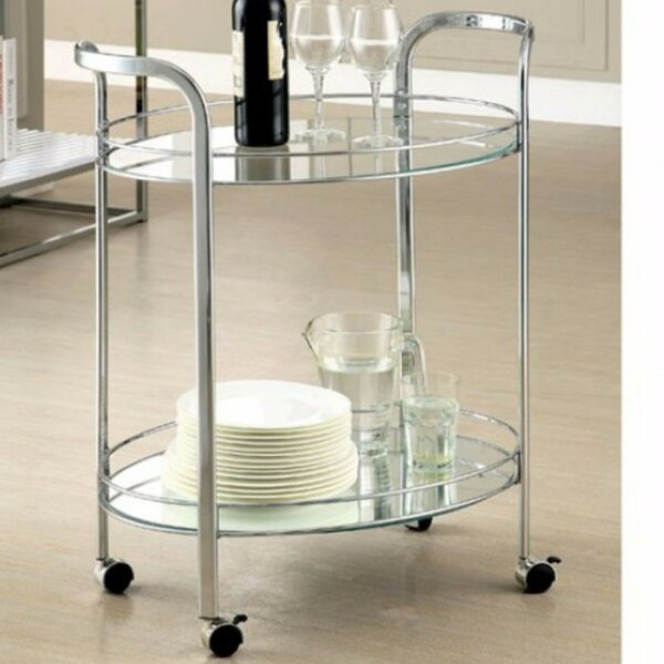 Burchfield Serving Bar Cart by Ebern Designs Ebern Designs