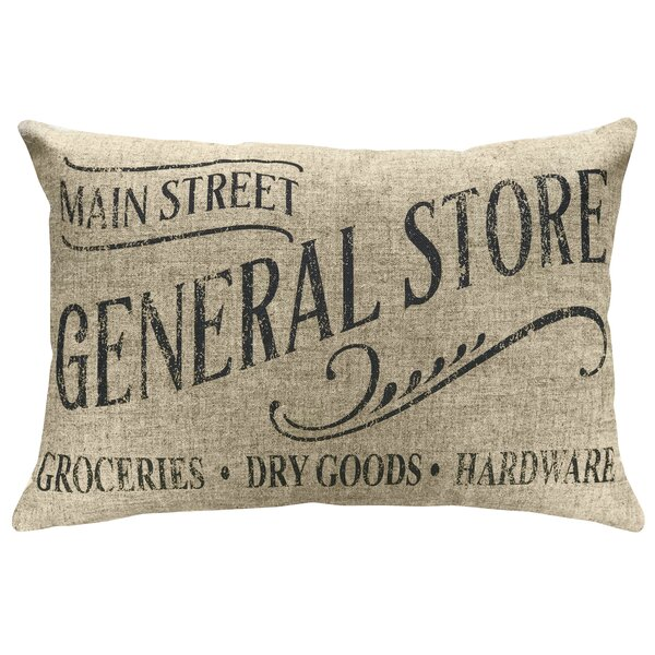 Mcateer General Store Linen Throw Pillow by Gracie Oaks