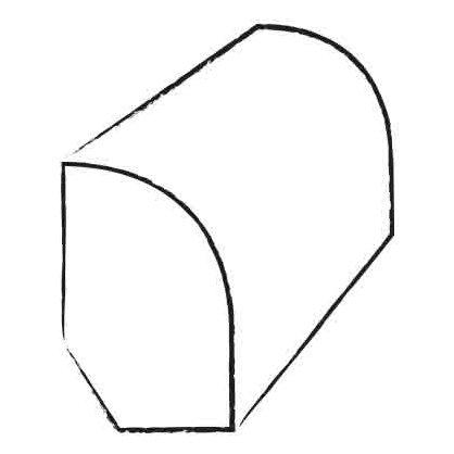 0.47 x 1.2 x 94 Walnut Base Shoe by Moldings Online
