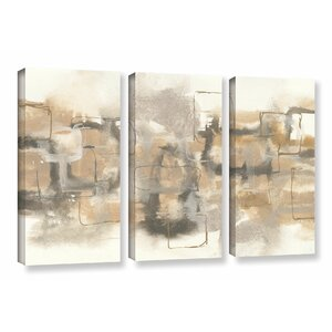 Platinum Neutrals II 3 Piece Painting Print on Wrapped Canvas Set by Latitude Run