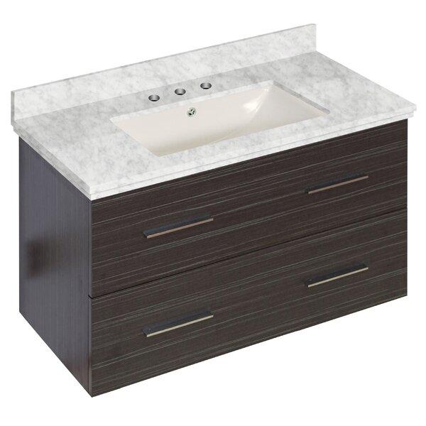 Phoebe Drilling Wall Mount 36 Single Bathroom Vanity Set with Handles by Orren Ellis