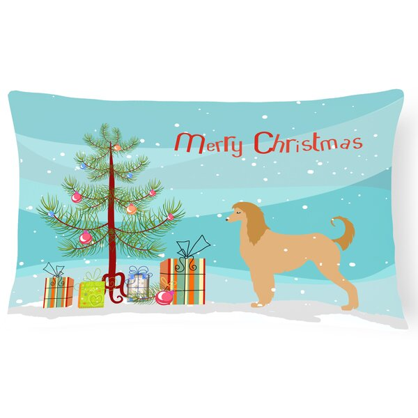 Afghan Hound Indoor/Outdoor Lumbar Pillow by The Holiday Aisle