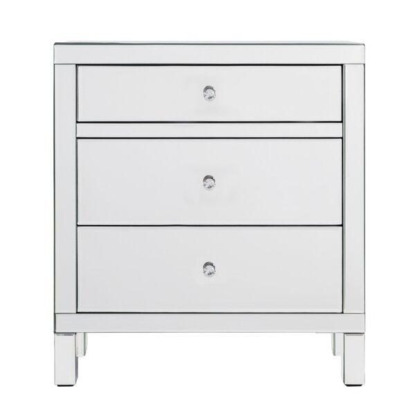 Jacky 3 Drawer Chest by House of Hampton House of Hampton
