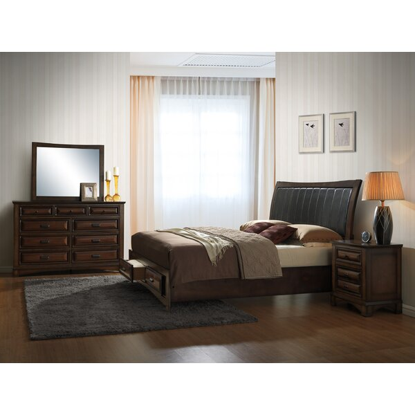 Broval King Platform 4 Piece Bedroom Set by Roundhill Furniture
