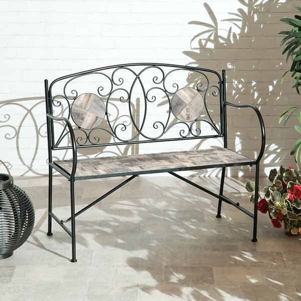 Emblyn Iron Garden Bench by Fleur De Lis Living