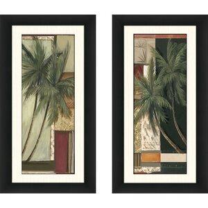 'Tropa Chic III' 2 Piece Framed Acrylic Painting Print Set by Bay Isle Home