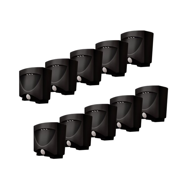 Battery-Powered Motion-Activated Indoor/Outdoor Night Light (Set of 10) by Maxsa Innovations