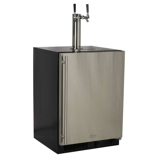 5.7 cu. ft. Twin Tap Full Size Kegerator by Marvel