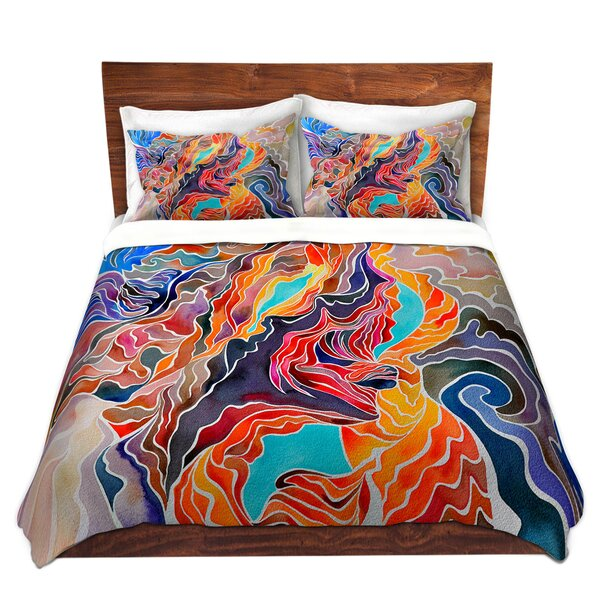 Marmolejo Rachel Brown Antelope Canyon Microfiber Duvet Covers
