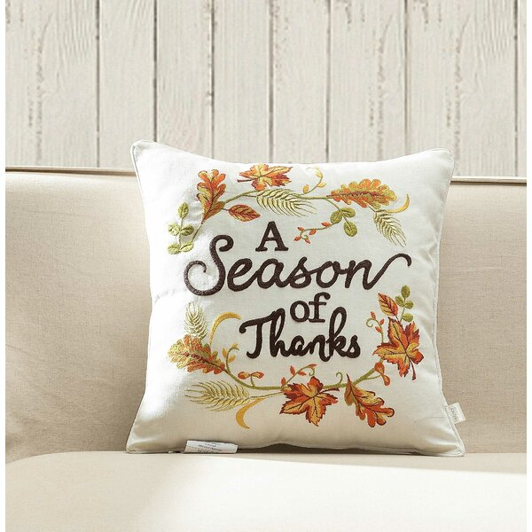 Fairmount Season of Thanks Throw Pillow by Alcott Hill