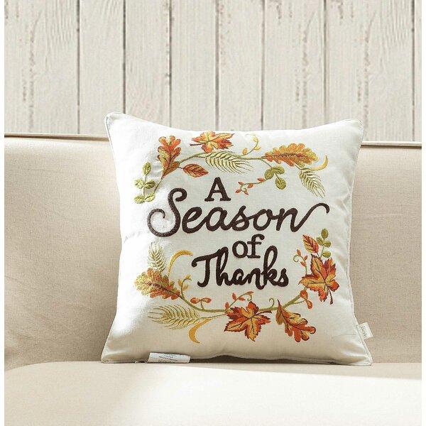 Fairmount Season of Thanks Throw Pillow by Alcott Hill