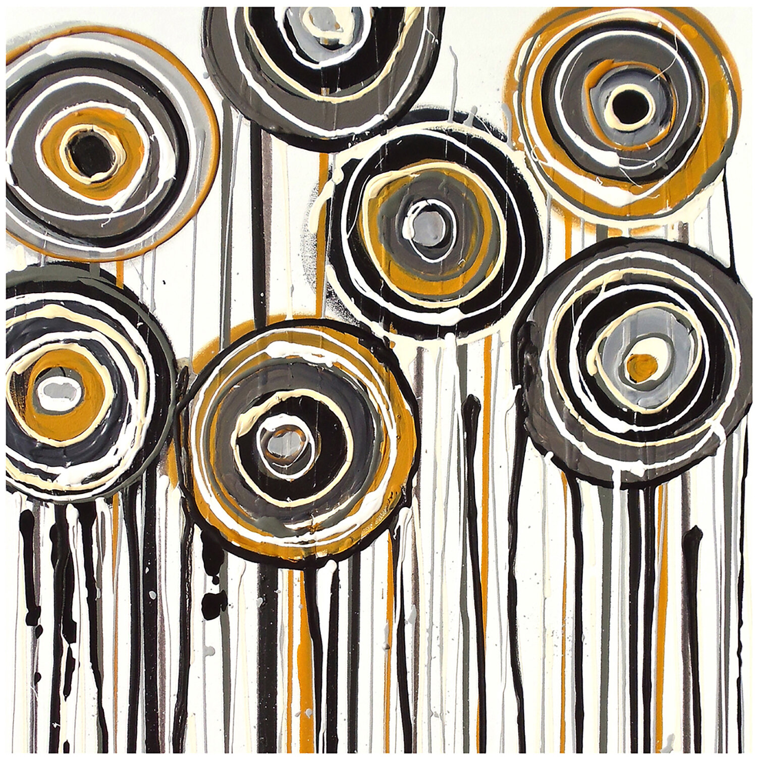 Ptm images abstract lollipop painting print on wrapped for Best brand of paint for kitchen cabinets with iron man wall art