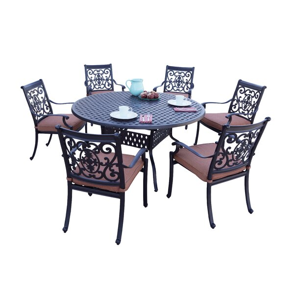Mccraney 7 Piece Dining Set with Cushions by Astoria Grand