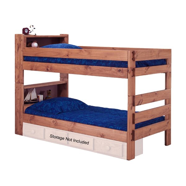 Chou Bookcase Twin Over Twin Bunk Bed with Bookcase by Harriet Bee