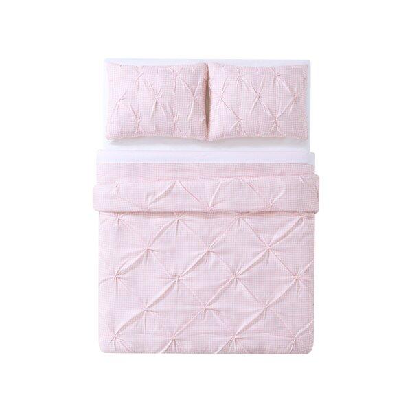 Dunson Kids Gingham Pinch Pleat Comforter Set by Harriet Bee