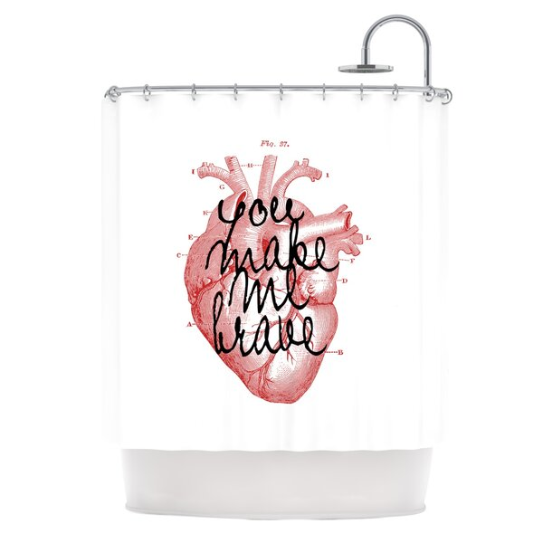 Make Me Brave by Suzanne Carter Shower Curtain by East Urban Home