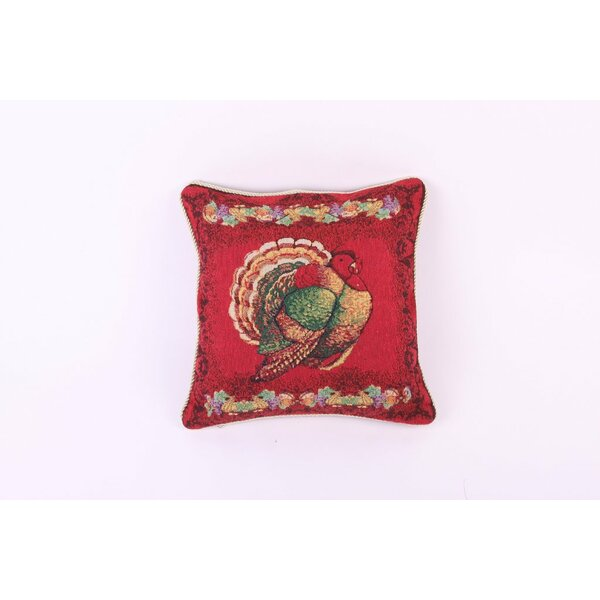 Thanksgiving Happy Fall Harvest Tapestry Turkey Pillow Cover by Violet Linen
