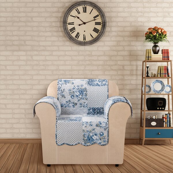 Heirloom Quilted Prewashed Cotton Armchair Slipcover By Sure Fit