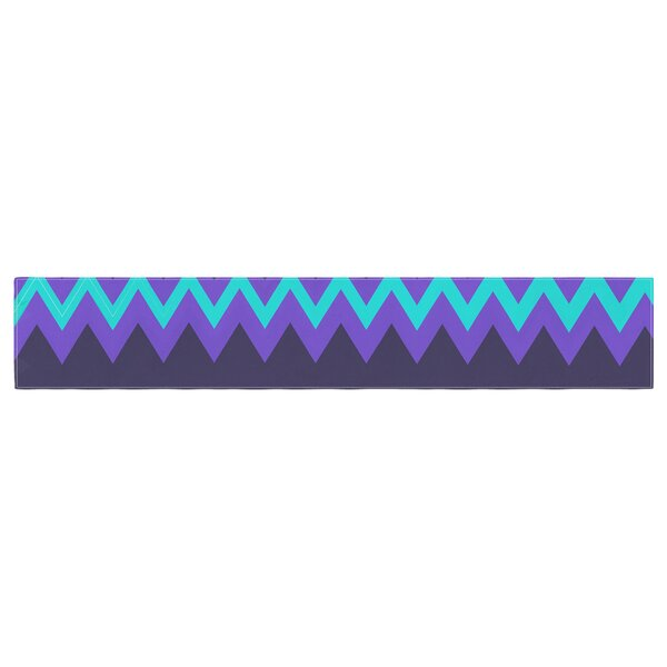 Nika Martinez Surf Chevron Table Runner by East Urban Home