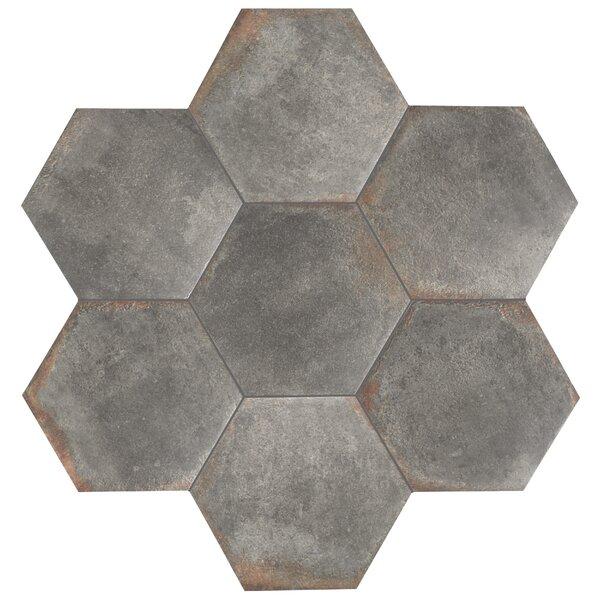 Relic Hex 11 x 12.63 Porcelain Field Tile in Notte by EliteTile