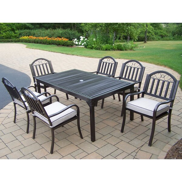 Lisabeth Traditional 7 Piece Dining Set with Cushions by Red Barrel Studio