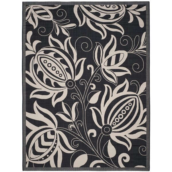 Wysocki Black/Tan Indoor/Outdoor Area Rug by August Grove