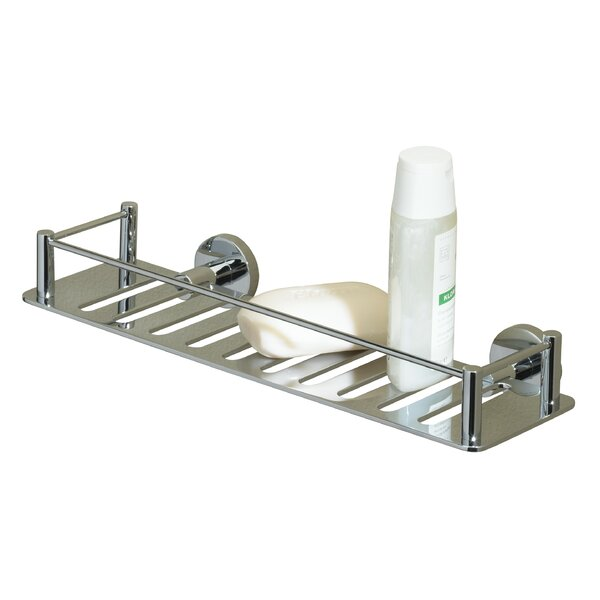 Essentials Solid Brass Wall Mounted Shower Caddy by Valsan