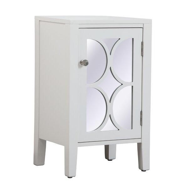 Comerfo 1 Door Mirrored Accent Cabinet